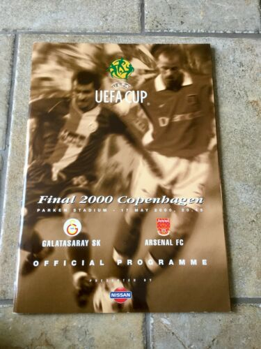 2000 UEFA CUP FINAL ARSENAL v GALATASARAAY MINT CONDITION