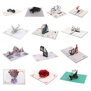 3d Paper Postcard Greeting Cards Handcraft Gifts For Father S Day