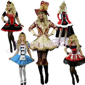 ef41b31c2ed Yummy Bee Alice Wonderland Fancy Dress Outfit Women Queen Mad Hatter ...