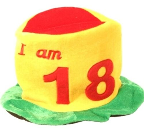 Birthday Hat Ages 18 18th Eighteen Teenager Party Decoration