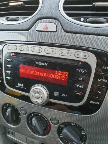 Fiesta Mondeo Ford Sony 6000 6006 CD Radio DAB 6 disco código Decodificar Servicio Ka