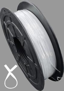 Kabelbinder Twist Ties Band Meterware Tütenverschluss Verschlußclips 500m weiß