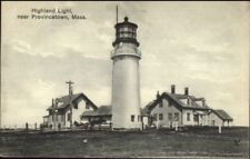 Highland Lighthouse Near Provincetown Cape Cod MA c1910 Postcard