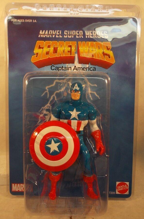 Marvel Secret Wars Jumbo 12  capitán América Con Escudo Gentle Giant Escudo Menta en paquete