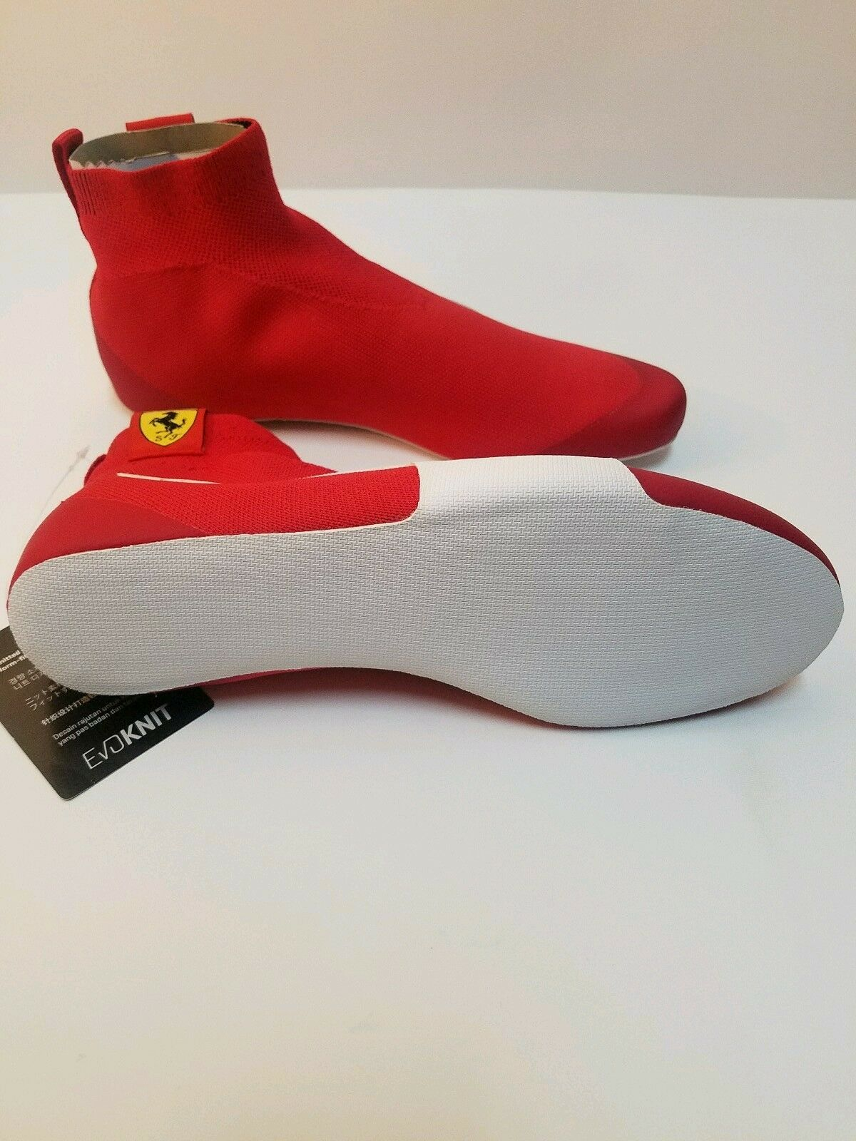 Puma Men's Ferrari Driver Evoknit Replica Ankle-High Fashion Sneaker