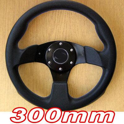 Sportlenkrad Schwarz 300mm Lenkrad für Renault 9 11 19 21 Clio Megane R5 Espace