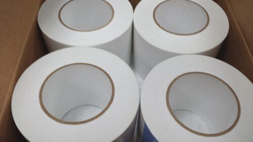 "4 Rolls 3.75""x55 yd Double sided tissue tape wrinkle free high tack DT63Q"