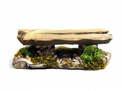 zb 1 Krippenzubehör Bank Brett auf gestappelten Steinen 3,5cm Höhe Länge 10 cm
