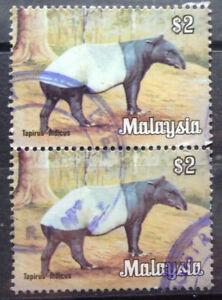 Malaysia Used Stamp - 2 pcs 1979 $2 Animals Definitive Stamp - Malayan Tapir