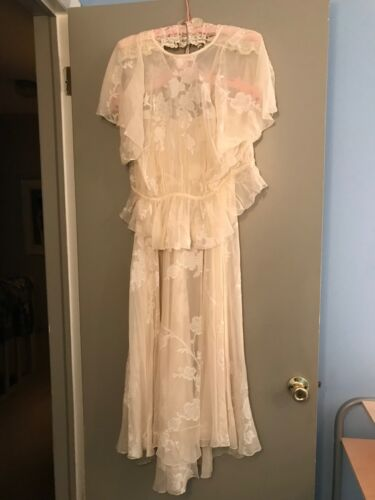 VINTAGE HOLLY HARP WEDDING DRESS - 3 PIECE - SMALL