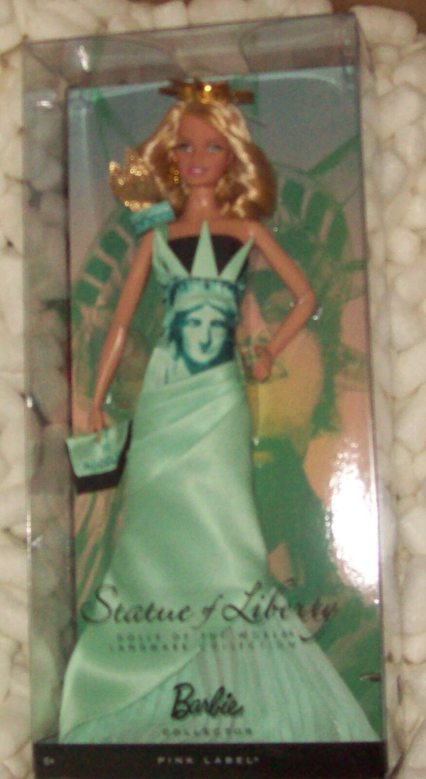 Estatua de Liberty Barbie Landmark Collection Mib