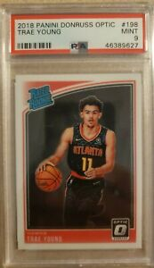 2018-19 Donruss Optic TRAE YOUNG Rated Rookie PSA 9 MINT RC #198