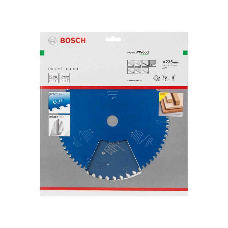 Bosch HM-Sägeblatt 235x2,8x30 Z48 2608644065 Expert for Wood für Handkreissägen