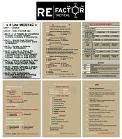 Re Factor Tactical Combat Reference Stickers-medevac-uxo-call For Fire-cas