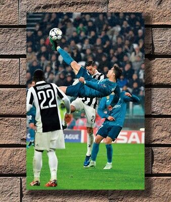 Cristiano Ronaldo Bicycle Kick Real Madrid Vs Juventus Poster Fabric 36 E 1453 Ebay