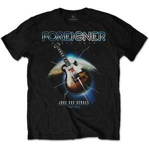 Foreigner-Juke-Box-Heroes-Tour-2018-Official-Merchandise-T-Shirt-M-L-XL-Neu