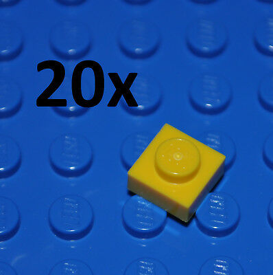 LEGO Yellow Plate 1x1 Lot of 100 Parts Pieces 3024