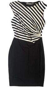 New JANE LAMERTON Women Sleeveless Sheath Dress Corporate Cocktail Black Sz 14