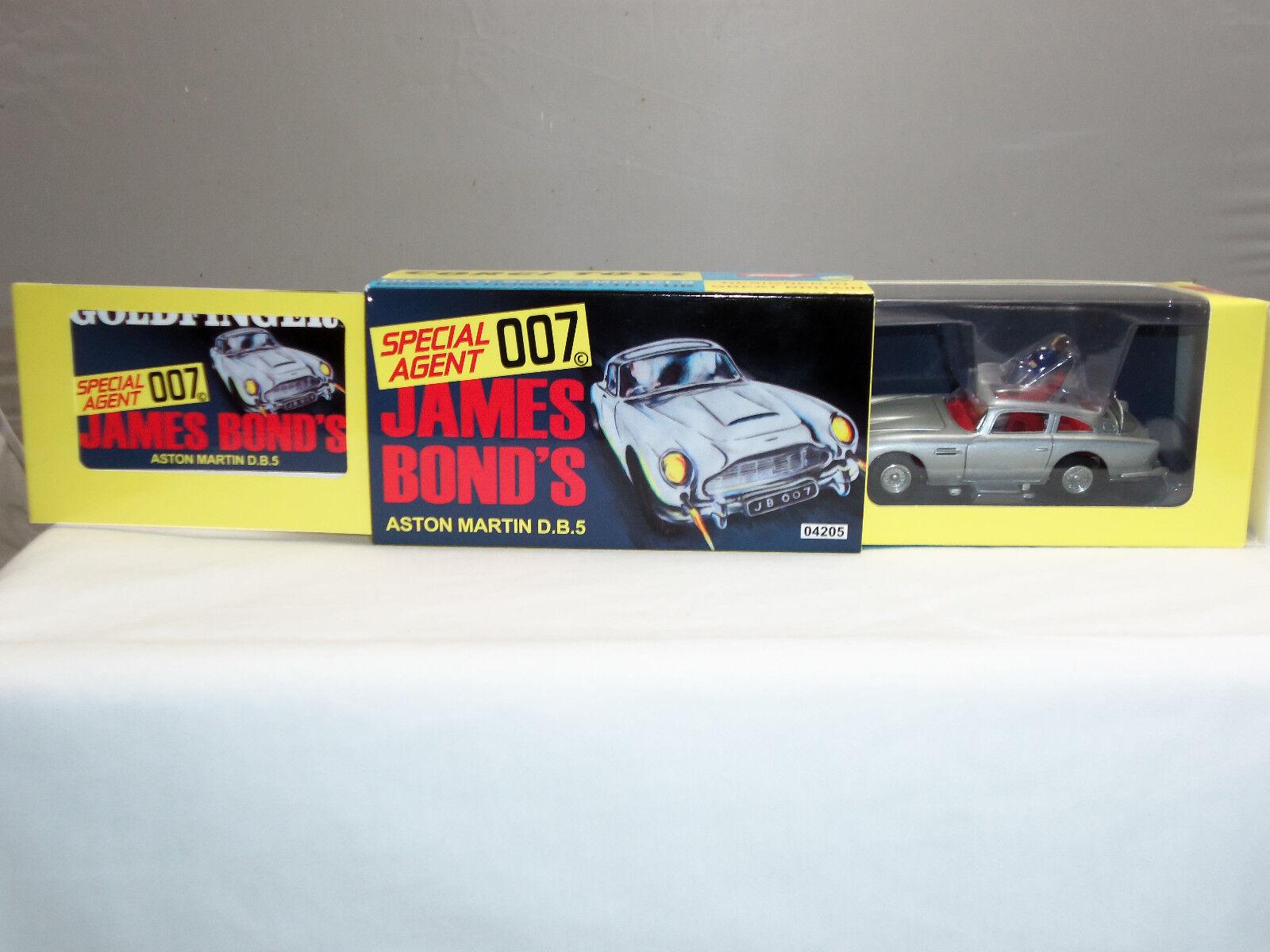 CORGI 04205 JAMES BOND OO7 Argent Aston Martin DB5 Diecast Voiture Modèle avec figurine