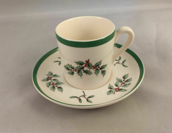 Spode Christmas Tree Cup And Saucer Made In England For