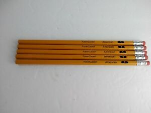 Vintage-No-1-Faber-Castell-Writing-Pencils-lot-of-5-unsharpened