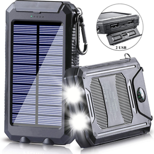 2021 Super 100,000,00mAh USB Portable Charger Solar Power Bank For Cell Phone