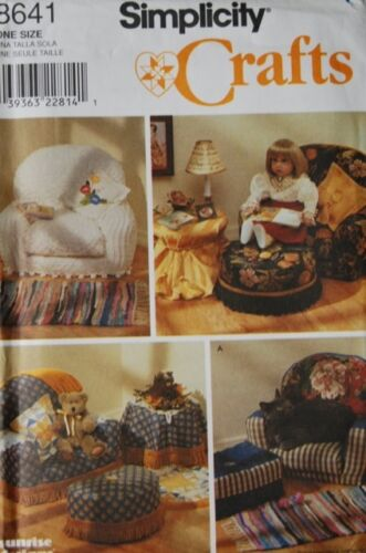Simplicity 8641 18 Girl Doll Pattern Stuffed Craft Chairs and Accessories Sofa