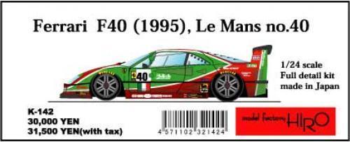 Mfh Modelo Factory Hiro 1 24 Ferrari F40' 95lemans Brummel  40  41 Completo