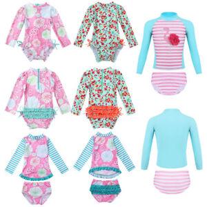 Kid-Baby-Girl-Long-Sleeve-Bikini-Swimwear-Swimsuit-Beachwear-Rash-Guard-Costume
