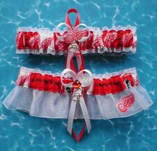 Detroit Red Wings Wedding Garter Set