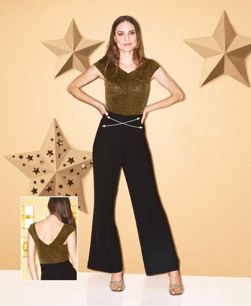 Avon Femme Noir Soirée Paillettes Bardot Combi-short Taille 18 20