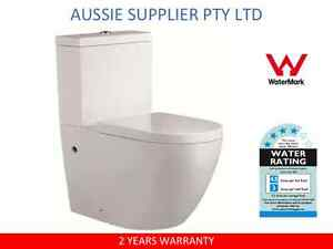TOILET-SUITE-CERAMIC-SOFT-CLOSE-SEAT-BACK-TO-WALL-WASHDOWN-P-OR-S-TRAP
