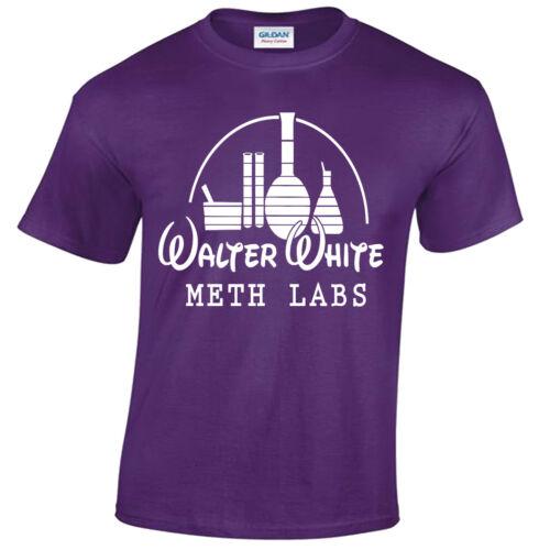 Walter White Meth Labs Herren T-Shirt Breaking Bad Inspiriert Heisenberg T-Shirt