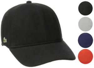 d3e0ec2f448 Lacoste Men s Classic Baseball Premium Cotton Pique Croc Logo Hat ...