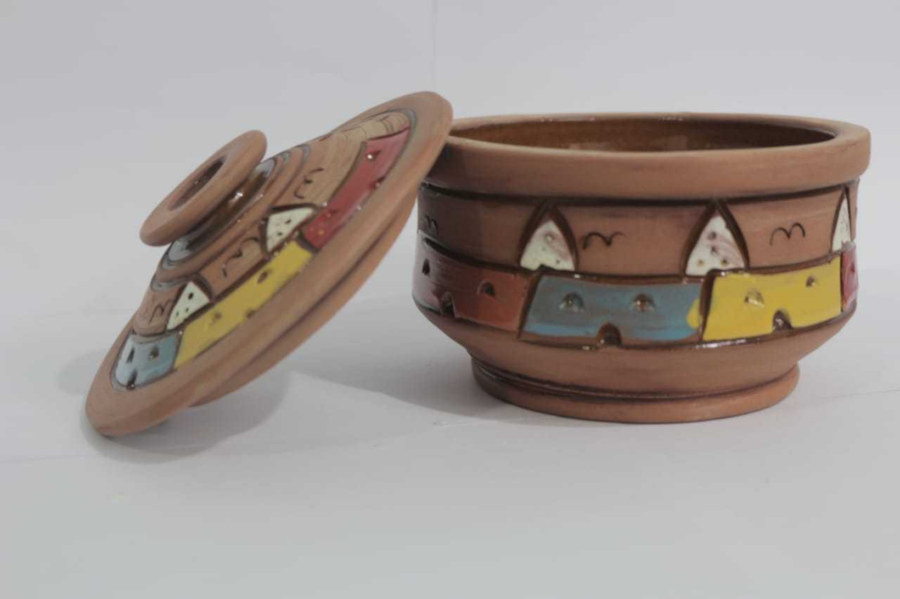 Buy 1 Get 1 Free - Egyptian Pottery Brown Cooking Tagine Pot -