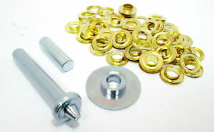 Tarpaulin-amp-Tent-Repair-Kit-30-Brass-Coated-Grommets-Eyelets-Punch-Tool-Awning