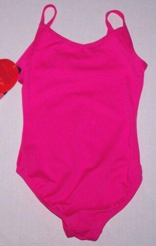 Nwt New Danskin Freestyle Leotard Leotard Rhinestone Studs Hot Pink Cute Girl