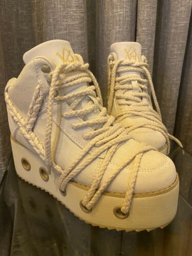 YRU Qozmo Sheidlina Platform Shoe Rope Shoes Size