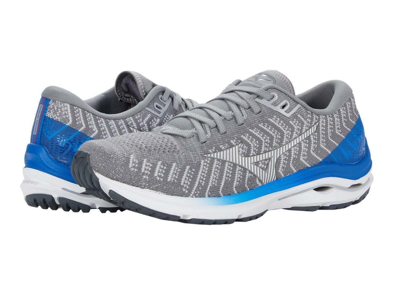 New Men's Mizuno Wave Rider 24 Waveknit Running Shoes Size 11 Gray 411225-FG00