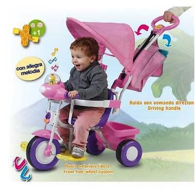 Triciclo Con Maniglione Baby Plus Biemme Rosa 1497 Rs
