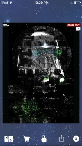 Topps Star Wars Digital Card Trader RO Borderless Static Death Trooper Insert
