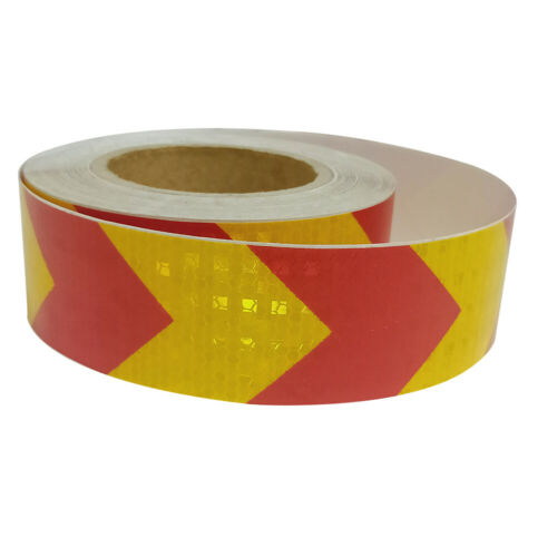 5x300cm Arrow Reflective Tape Car Styling Sticker Safety Warning Mark Tape Bands