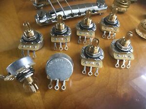 CTS 500K Pots Vintage Taper SHORT Split Shaft  - 10% - BULK LOT of 8