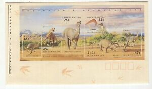 Australia-DINOSAUR-miniature-sheet-unused-cover