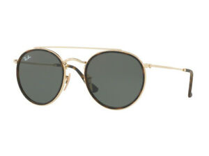 sunglasses Ray Ban Limited Double Bridge green classic round RB3647N ... b0cf6772cc