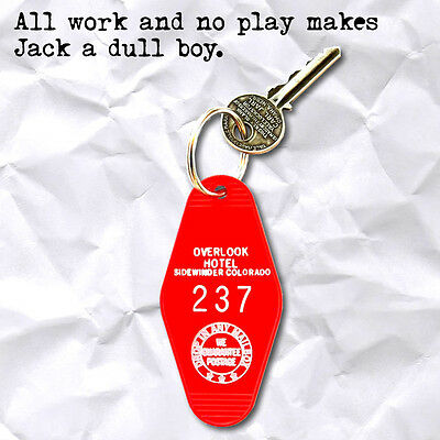New THE OVERLOOK HOTEL the shining ROOM 237 horror movie prop KEYCHAIN, key fob