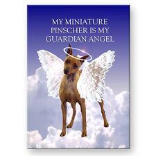 Miniature Pinscher Guardian Angel Fridge Magnet No 1 Dog Pet Loss