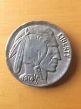 1914 Buffalo Indian Head Molded Aluminium For Decoration 5 Cents
