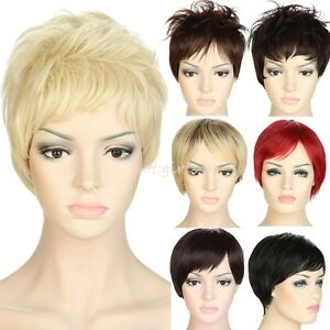 35ffca9e9ed80a Real Sexy Ladies Short Hair Wigs Boycut Pixie Cropped Curly Style ...