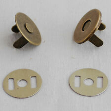 10 Set 2mm Extra Thin Magnetic Snap Button Bag Clothing Clasp 18mm Antique Brass